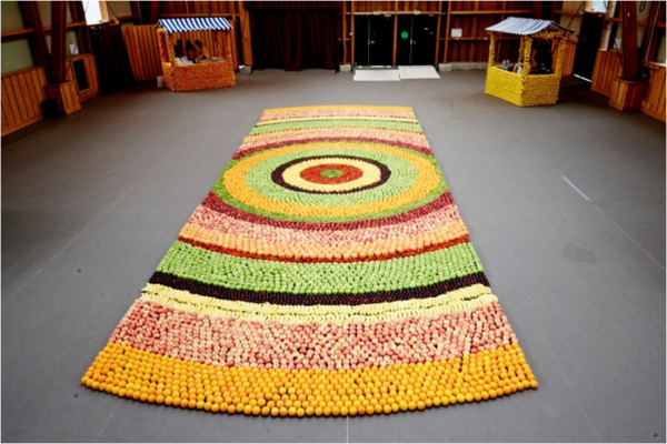 Teppich in bunten Farben - interessantes design in hellen farben