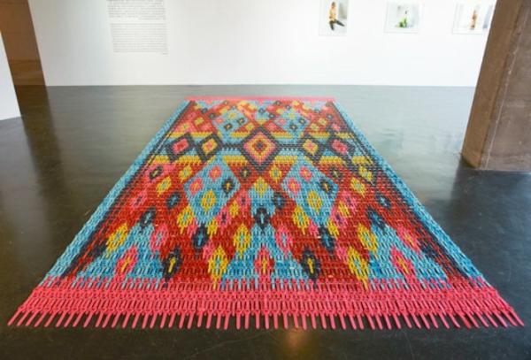 Teppich in bunten Farben - großartiges design