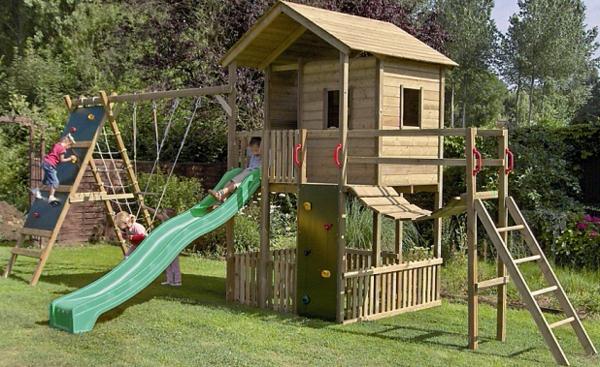 Inspiration-Playhouse-Garden-Design-With-Green-Slider-Desaign