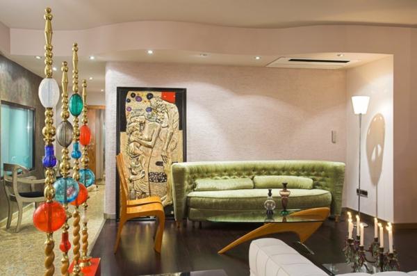 art deco stil -  exotische wohnzimmer ausstattung