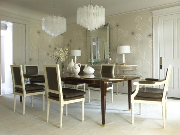 cool aussehende lederstühle für esszimmer - in braun und weiß
