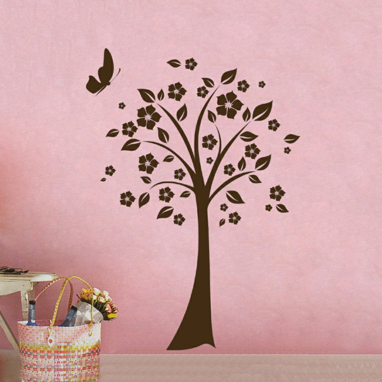 Edles In Braun Baum Auf Rosa Wand Deko