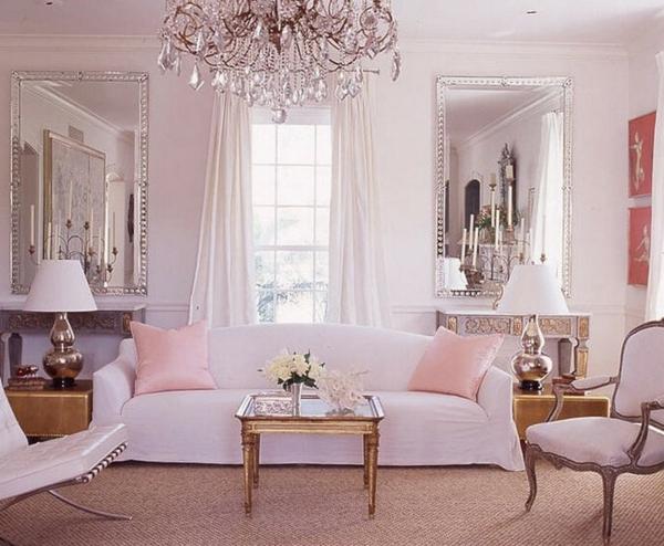 romantischeliebe inspiration - elegantes wohnzimmer mit einem kristallleuchter
