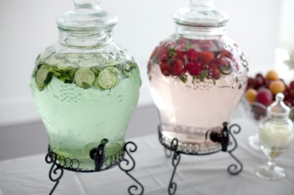 romantische liebe inspiration - süße dekoration für tisch