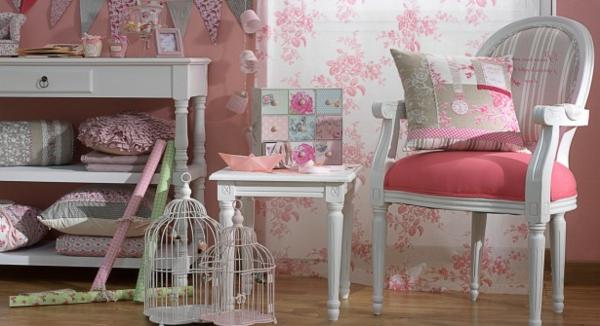 shabby stil - zimmer in weiß und pink gestalten und dekorieren