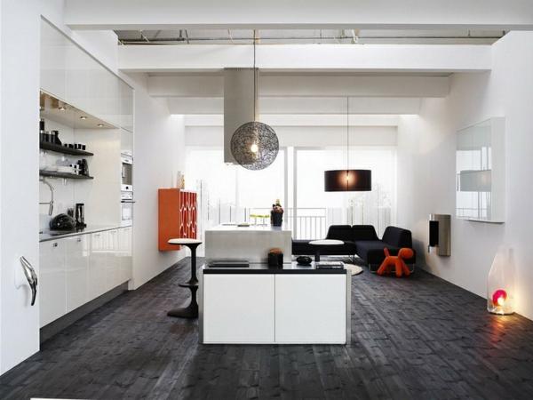 schwedisches Möbel - elegante hängende lampe im wohnzimmer