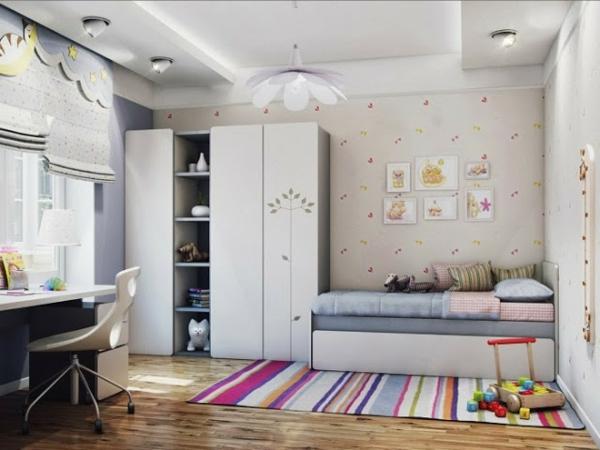 Teppich in bunten Farben - wunderschönes kinderzimmer gestalten