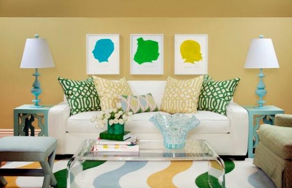 Kissenbedrucken - viele kissen auf einem weißen sofa