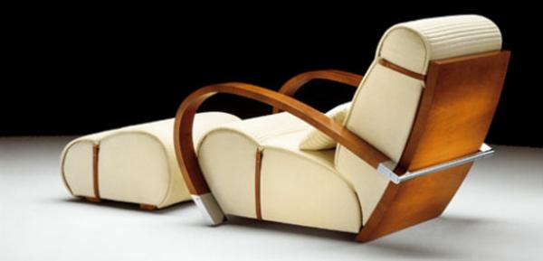 art deco stil - luxuriöses modell vom weißen sessel