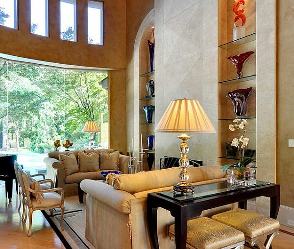 artdeco stil -  gemütliches großes wohnzimmer