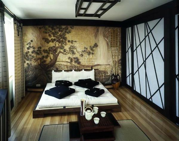 asiatische-betten-exotisches-schlafzimmer-gestalten- ein sehr schönes und cooles bild