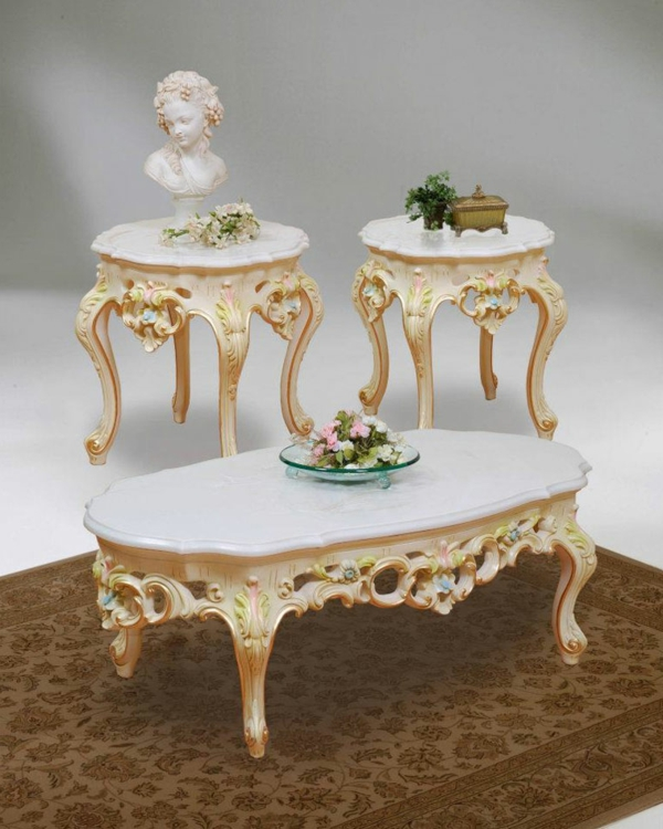 barock tisch - drei wunderschöne weiße modelle