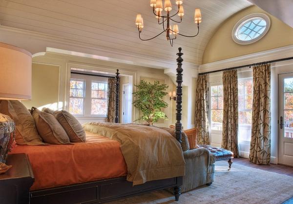 Attraktiv Schlafzimmer Imlandhausstil   Auffälliges Modell Vom Bett