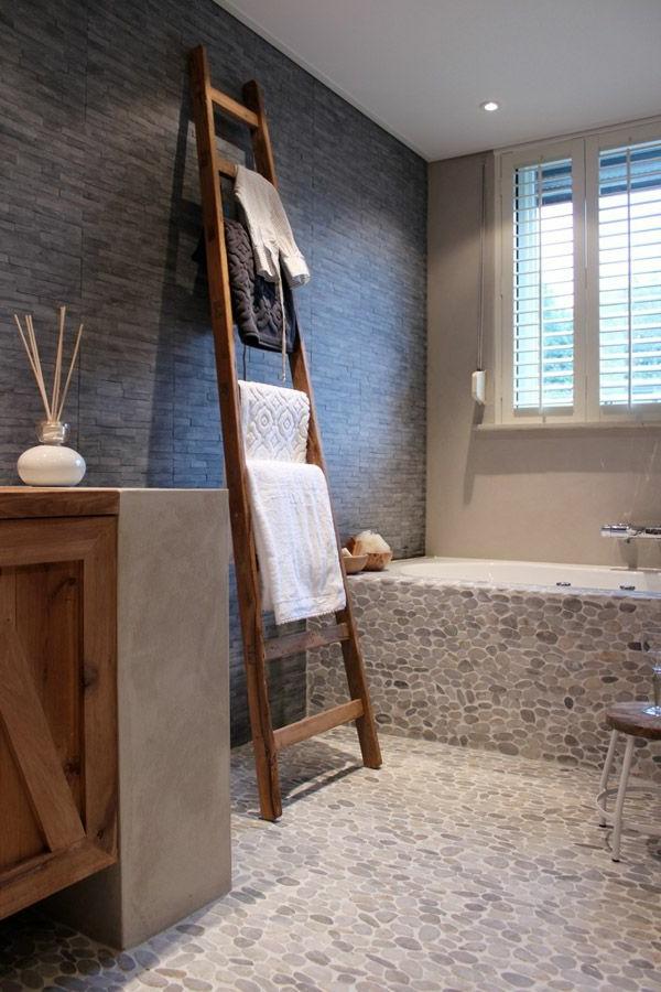 Holzleiter badezimmer for Badezimmer sachen