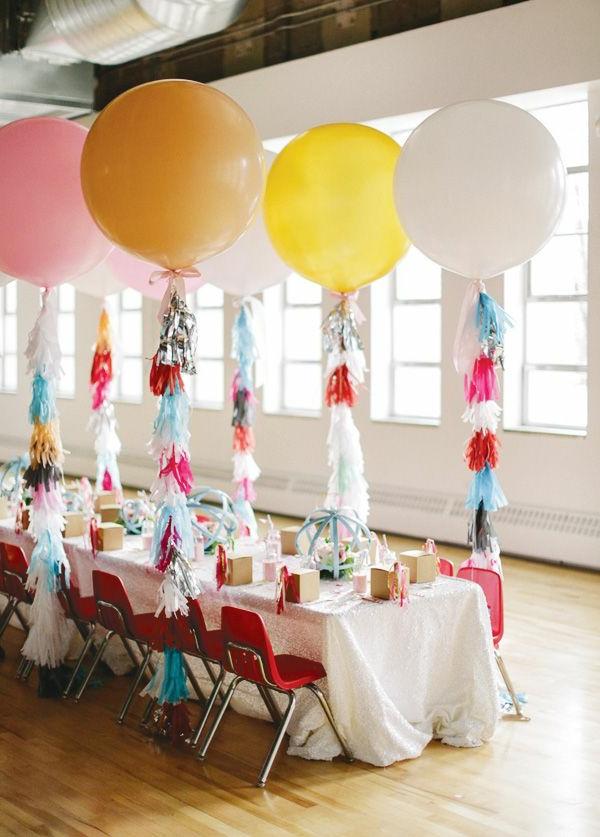 Ballons Tischdekoration Für Einen Kindergeburtstag Party Deko