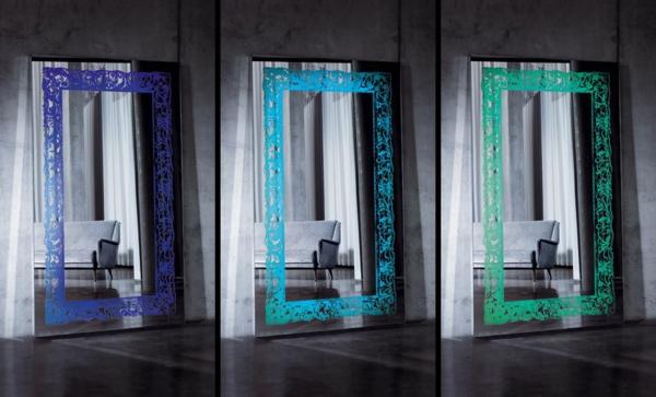 barockspiegel - drei einmalige modelle mit rahmen in verschiedenen farben