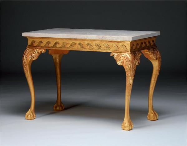 barocktisch - marmor oberfläche