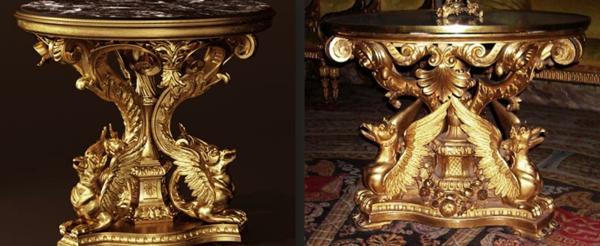 barocktisch - zwei bilder von einem großartigen modell