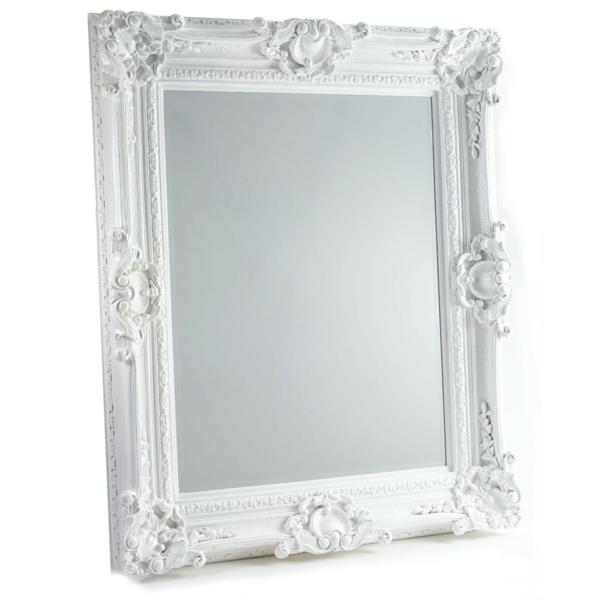 barockspiegel - großes design mit weißem rahmen