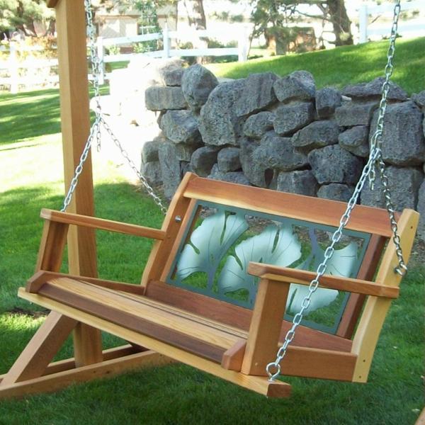 Treppenstufen Holz FUr Den Aussenbereich ~ bequeme gartenschaukel zum spaß gartenzubehör exterior design