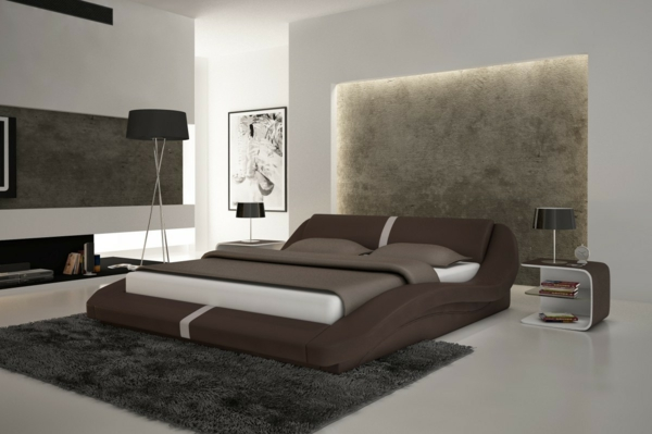 moderne und schicke betten in braun. Black Bedroom Furniture Sets. Home Design Ideas