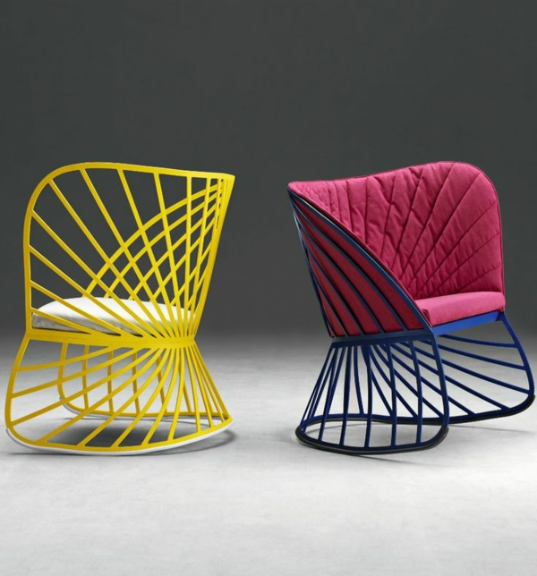 Buntes Interior Design Idee Möbel Designer Stühle Stuhl