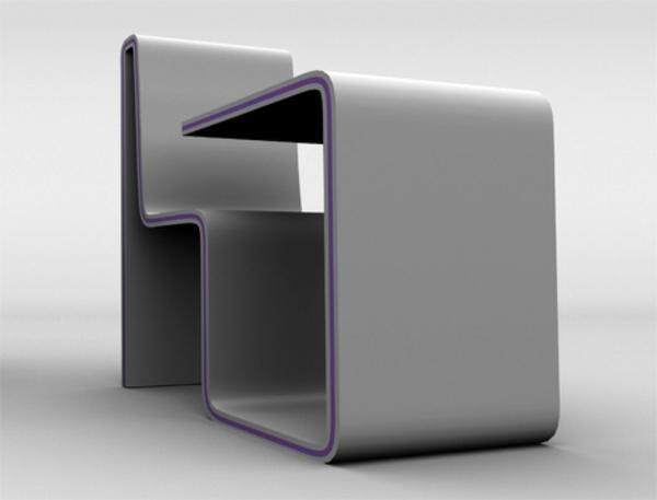 designerschreibtisch - einmaliges modell in weiß