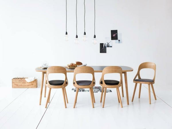 schwedische Möbel - ultramoderne stühle und großer tisch