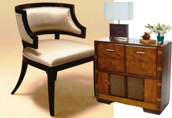artdeco stil - schöner silberner stuhl
