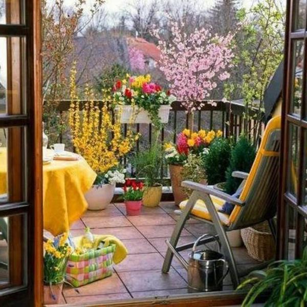 Wundersch ner balkon deko ideen zur inspiration for Balkongestaltung ideen