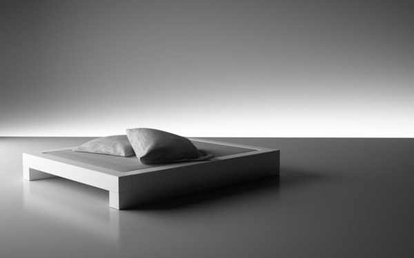 designer-bett-einmaliges-foto-in-grauer-farbe- ein sehr schönes und cooles bild