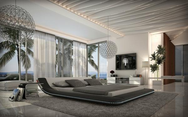 designer-bett-im-exotischen-schlafzimmer- ein sehr schönes und cooles bild
