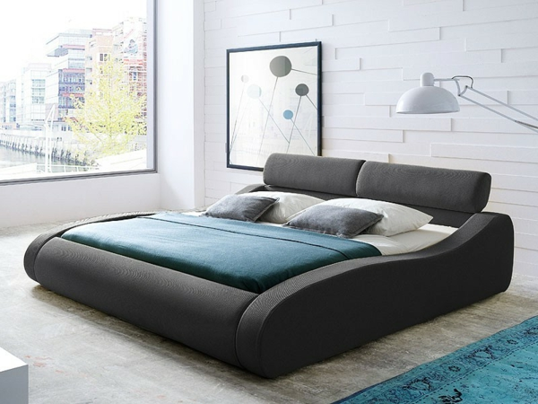 designer-bett-im-hellen-schlafzimmer- ein sehr schönes und cooles bild