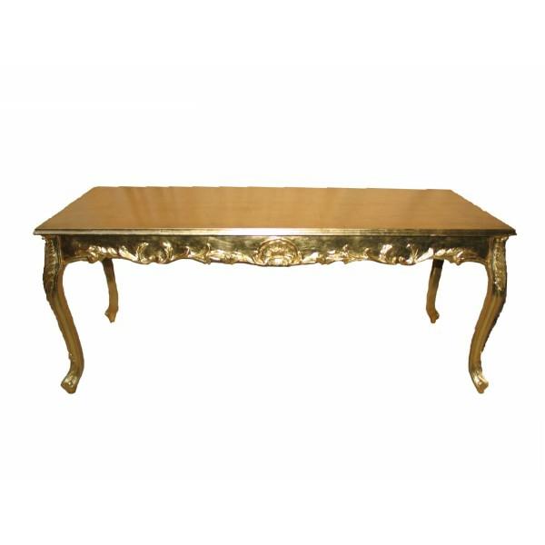 barocktisch - goldenes großes modell und weißer hintergrund