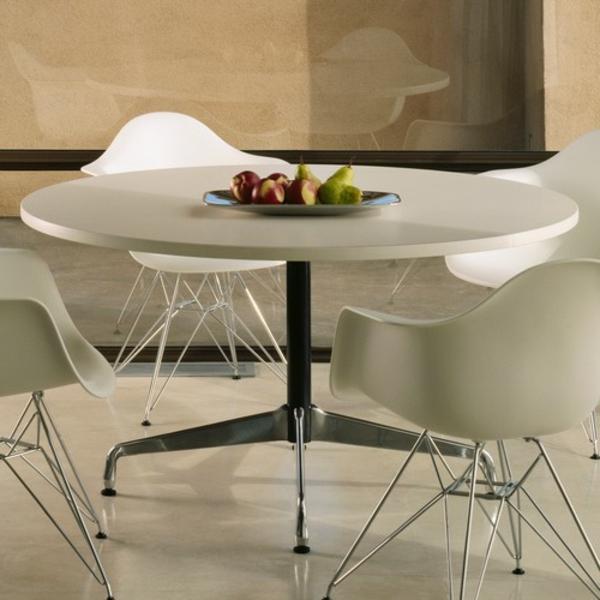 Runde Tische   - weißes schickes modell