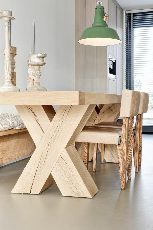 Ein Wunderbares Esszimmer Gestalten Landhausstil Esszimmer  Originelles Holztisch
