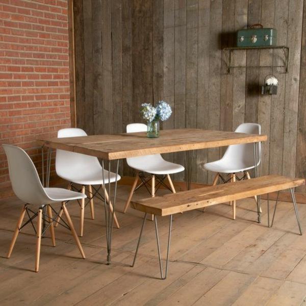 Holzbank design  Sitzbank im Esszimmer - eine schöne Idee! - Archzine.net