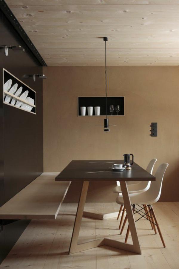 Eine Schöne Holzbank Im Esszimmer Interior Design Ideen