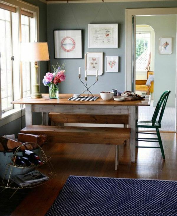 eine--schöne-holzbank-im-esszimmer-interior-design-ideen