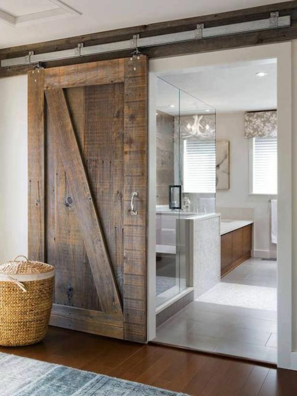 Glastüren für Innen – in Kombination mit einer Holztür mit Retro ...