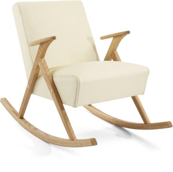 schwedisches Möbel - weißer shaukelstuhl
