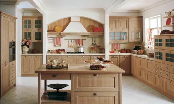 landhaus dekoration - wunderschöne große küche