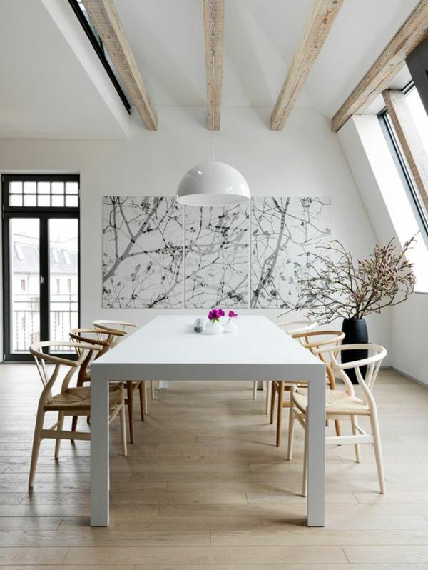 esszimmer-gestalten-schöne-und-moderne-einrichtungsideen-weißer-esstisch