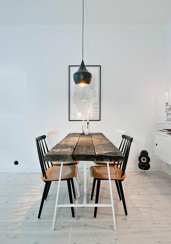 esszimmer-ideen-landhausstil-esstisch-esszimmerstühle-vintage-design