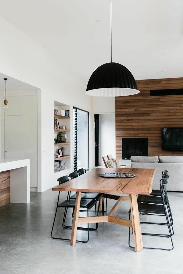 esszimmer-ideen-moderner-esstisch-esszimmerstühle-schwarz-tolles-design