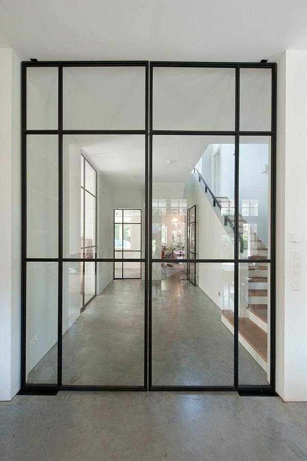 Glast ren f r innen modern und elegant - Glaswande innen ...