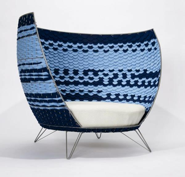 schwedisches Möbel - schickes und extravagantes modell vom stuhl