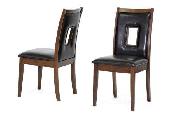 neue coole schwarze lederstühle für esszimmer