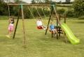 Schaukel mit Rutsche – Spaß am Spielplatz!