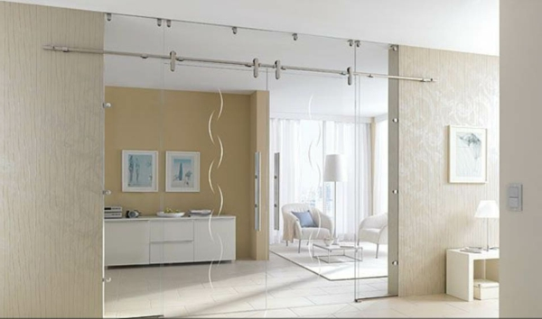 Elegante Und Stilvolle Glastüren Für Innen.